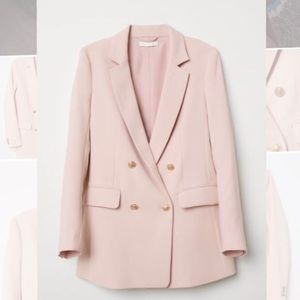 Pastel pink H&M double-breasted blazer